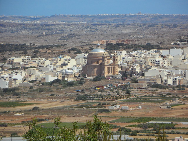 Mgarr, Malta, View, Landscape, City, Dome Church