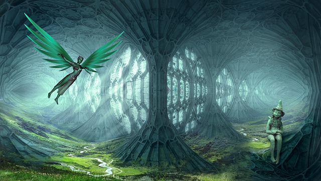 Fantasy, Elves, Dream World, Landscape, Cathedral