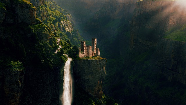 Castle, Fairy Tales, Nature, Water, Landscape