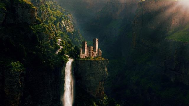 Castle, Fairy Tales, Nature, Water, Landscape