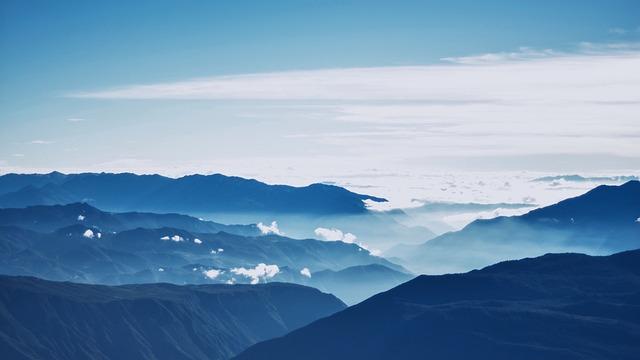 Clouds, Foggy, Landscape, Mountain Range, Mountains