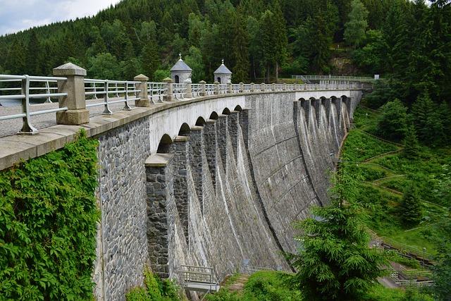 Dam, Barrier Wall, Neustadt Dam, Landscape, Forest