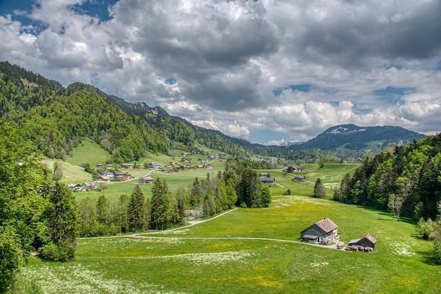 Landscape, Spring, Alpine, Bregenzerwald, Forests
