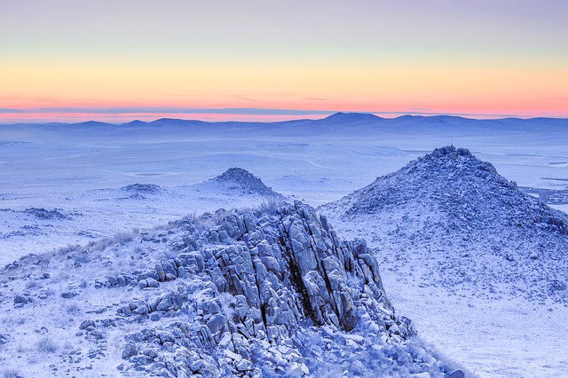Freezing, Landscape, Frozen, Cold, Sunrise, Rough