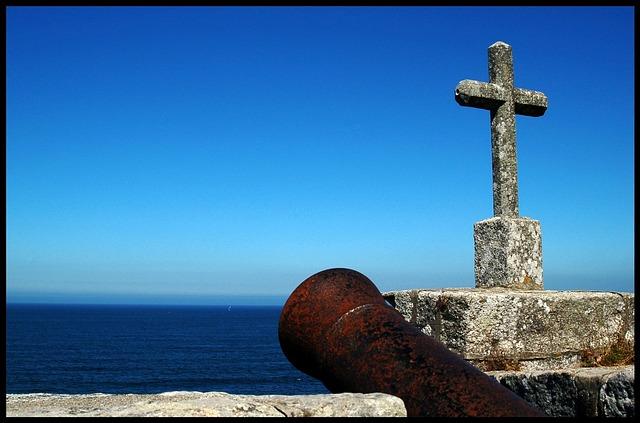 Baiona, Galicia, Sea, Castle, Cruz, Canon, Landscape