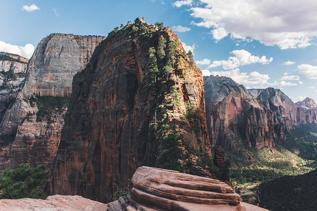 Canyon, Zion National Park, Cliff, Geology, Landscape