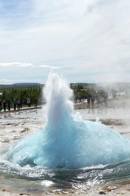 Geyser, Iceland, Fountain, Landscape, Water, Nature