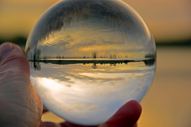 Glass Ball, Landscape, Ball, Glass, Mirroring, Nature