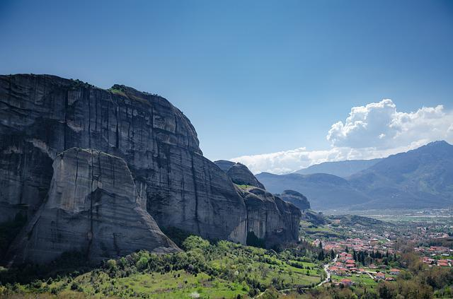 Landscape, Rocks, Greece, Meteora, Greek Landscape