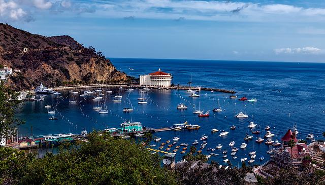 Catalina Island, California, Landscape, Casino, Harbor