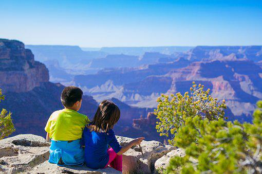 Canyon, Children, Hike, Kids, Landscape, Nature