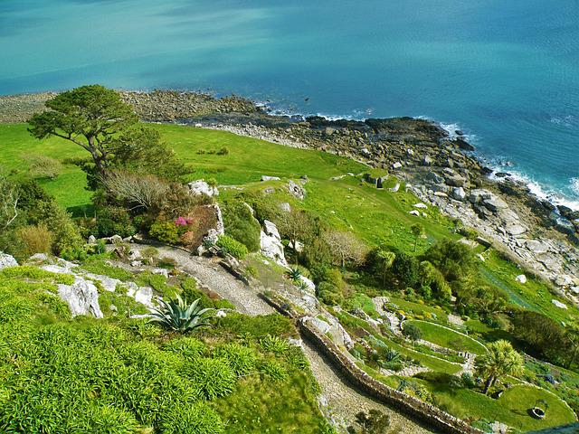 Garden, Hill, Landscape, Travel, St Michael Mount