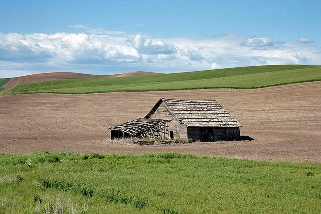Idaho, Landscape, Field, Barn, Farm