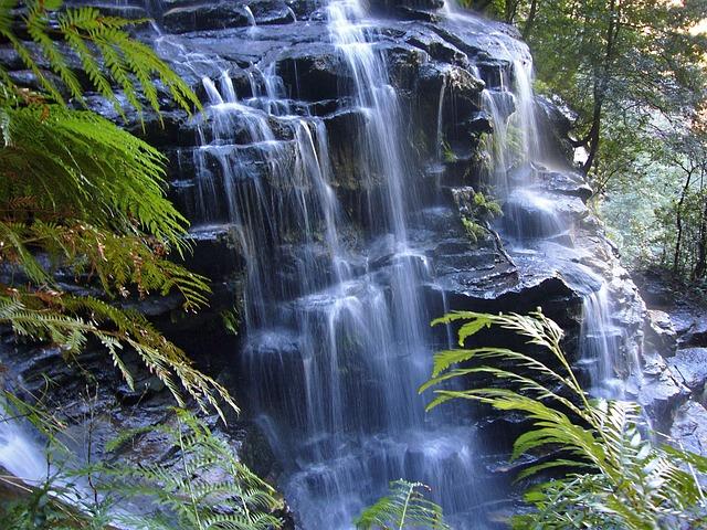 Waterfall, Water, Nature, Landscape, Idyll, Australia