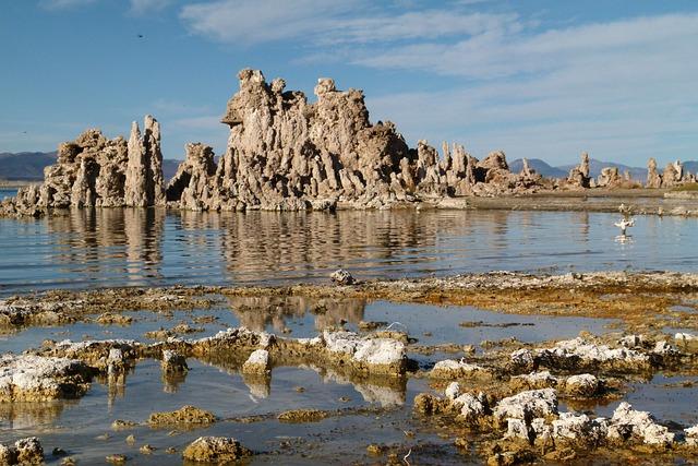 Mono, Lake, California, Usa, Tufa, Tuff, Landscape