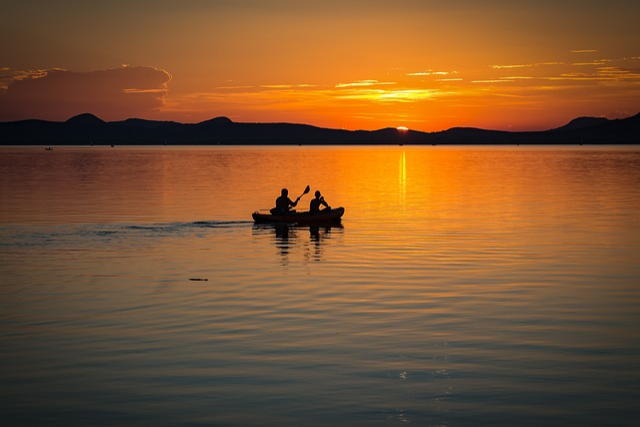 Lake Balaton, Sunset, Lake, Landscape, Water, Colors