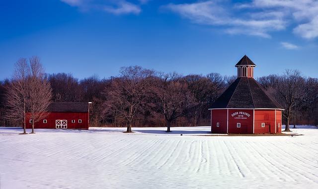 Door Prairie, Laporte, Indiana, Winter, Snow, Landscape