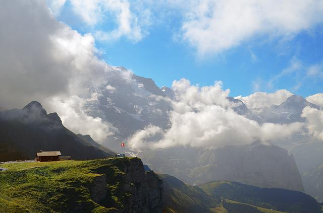 Alpine, Switzerland, Landscape, Male, Alm, Alp