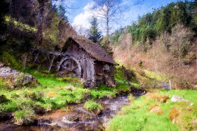 Mill, Black Forest, Bach, Water, Forest, Landscape
