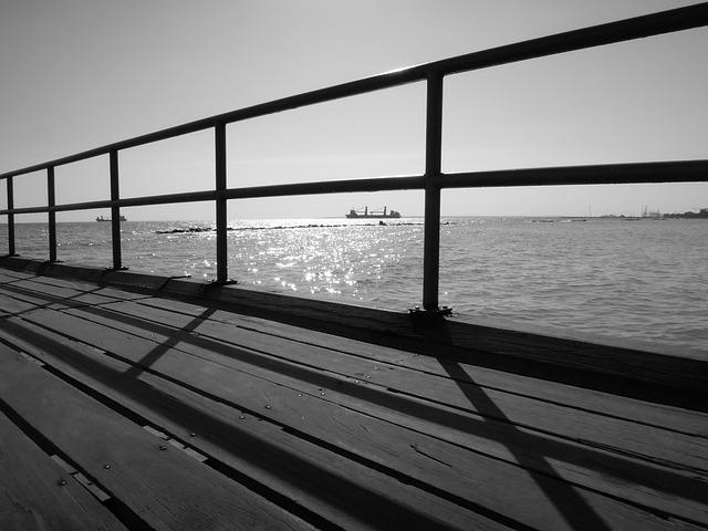 Sea, Molo, Cyprus, Limassol, Sunrise, Landscape, Coast