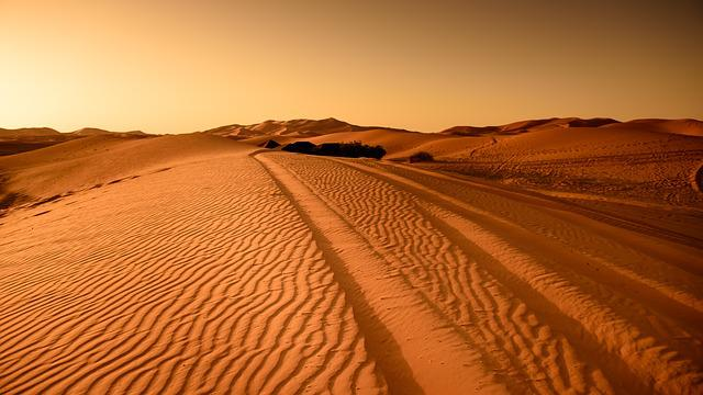 Desert, Morocco, Sand Dune, Dry, Landscape