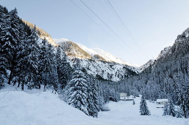 Winter, Landscape, Mountain, Snow, Season, Background