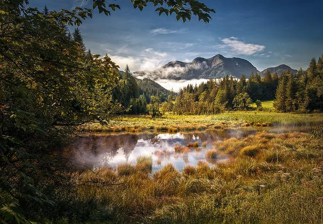 Mountain World, Lake, Nature, Landscape, Alpine Walk
