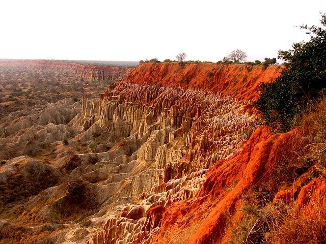 Angola, Mountains, Landscape, Cliffs, Outcrops
