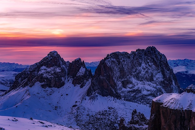Dolomites, Italy, Landscape, Scenic, Mountains, Snow