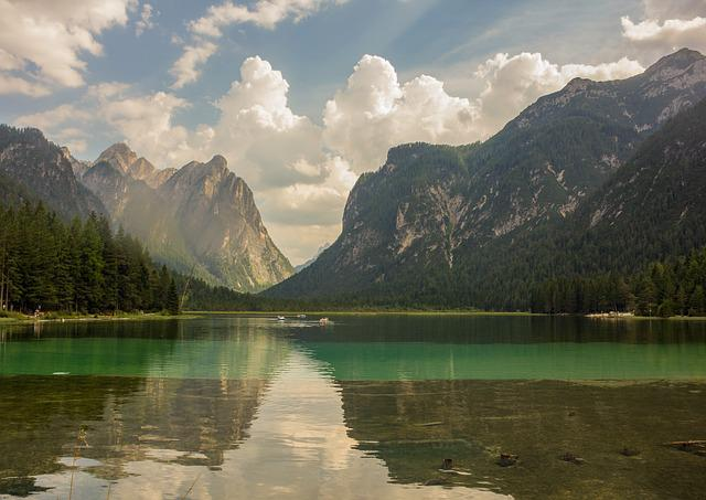 Lake, Mountains, Water, Mountain, Reflection, Landscape