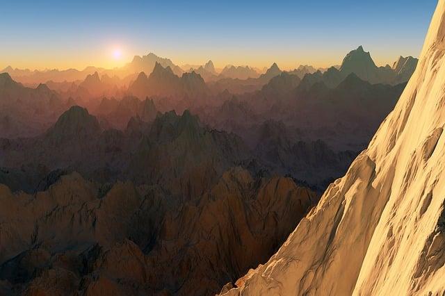 Mountains, Landscape, Sunset, Sunrise, Wallpaper