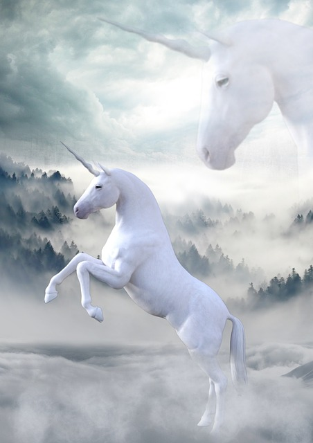 Unicorn, Landscape, Atmosphere, Fairy Tales, Mystical