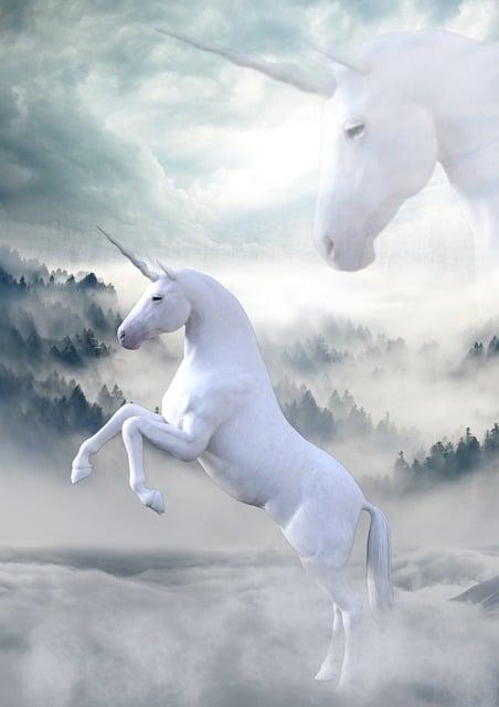 Unicorn, Landscape, Atmosphere, Fairy Tales, Mystical