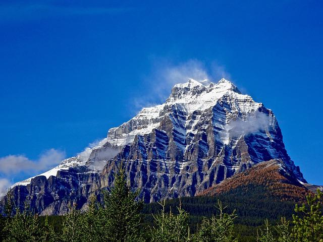 Mountain, Forest, Peak, Clouds, Landscape, Natural
