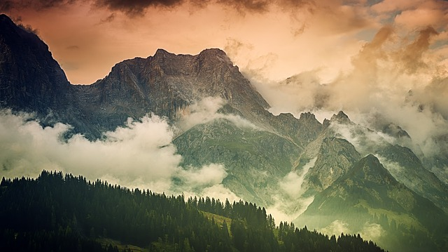 Mountain, Panorama, Landscape, Nature, Sky, Clouds