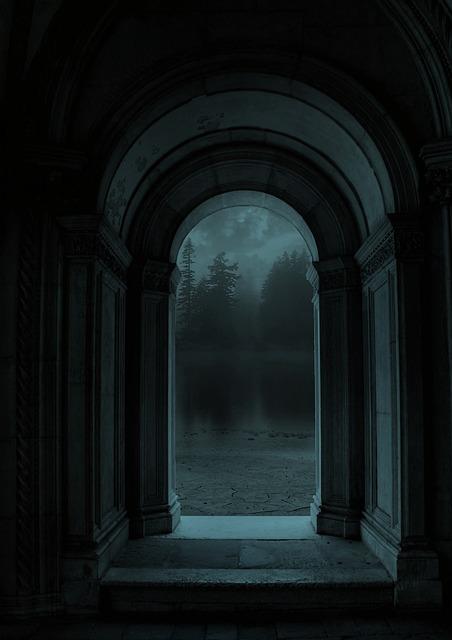 Door, Landscape, Fantasy, Forest, Night, Nature