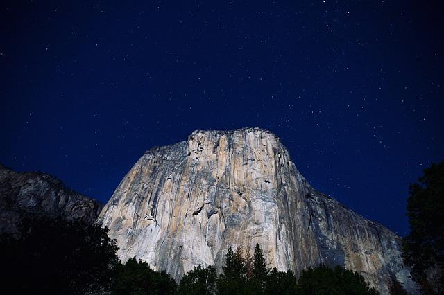 Cliff, Exploration, Landscape, Mountain, Nature, Night
