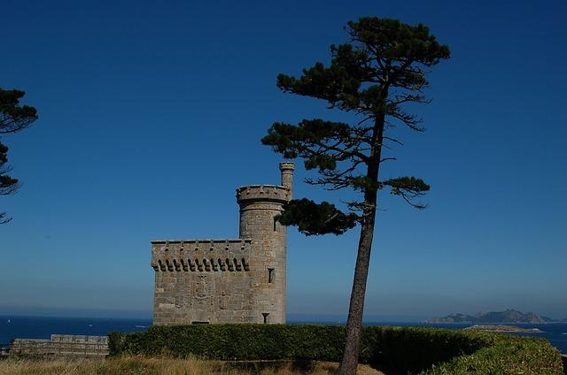 Baiona, Galicia, Sea, Castle, Tree, Nature, Landscape