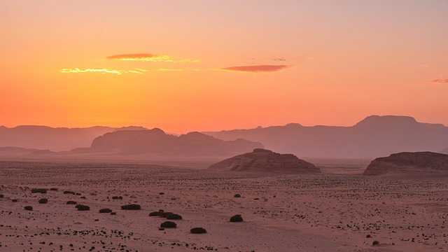 Desert, Wadi Rum, Jordan, Sunset, Landscape, Nature