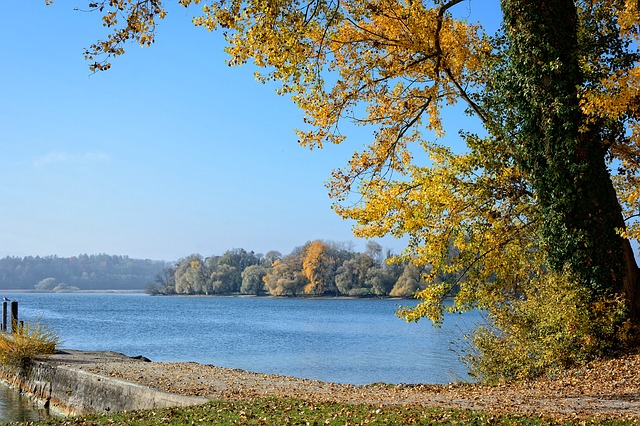 Autumn, Landscape, Chiemsee, Lake, Water, Nature