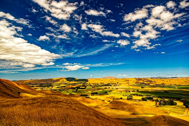New Zealand, Sky, Clouds, Landscape, Scenic, Valley