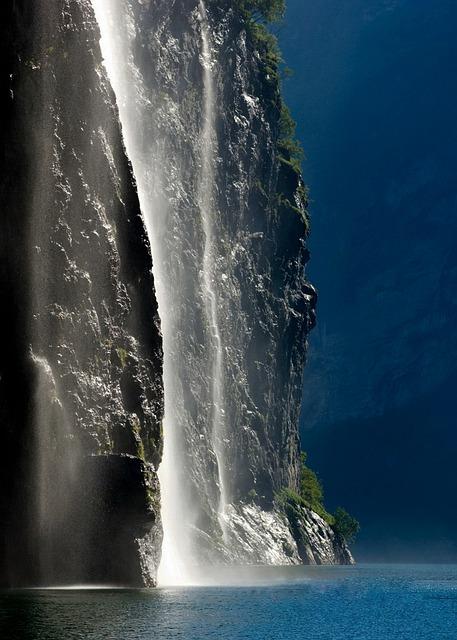 Geirangerfjord, Norway, Waterfall, Landscape