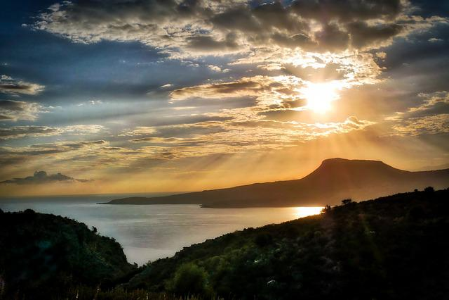 Sunset, Nature, Sky, Panorama, Dawn, Crete, Landscape