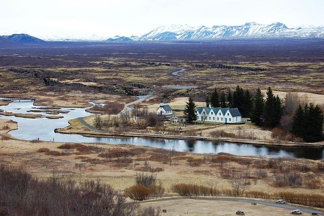 Iceland, Park, Top View, Landscape
