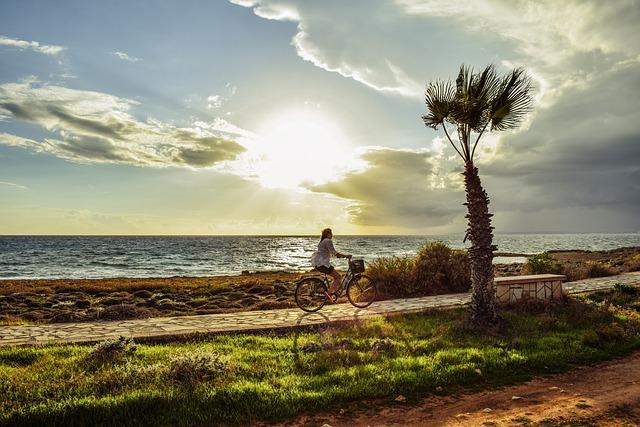 Afternoon, Landscape, Scenery, Path, Girl, Bike, Light