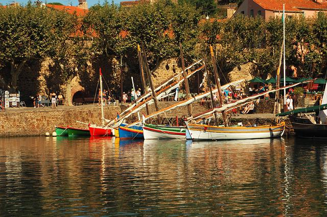 Collioure, Boat, Boats, France, Port, Sea, Landscape