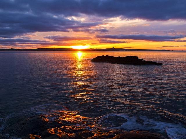 Cornwall, Landscape, Coast, Sunrise, Rock