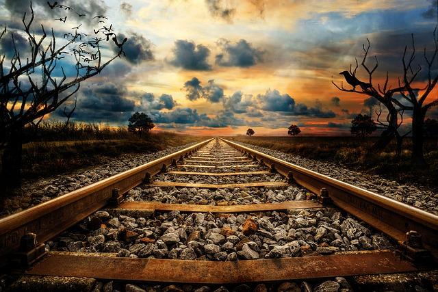 Railway Line, Railway, Route, Train, Travel, Landscape
