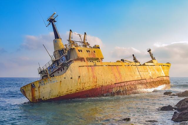 Shipwreck, Rocky Coast, Sea, Nature, Landscape, Scenery