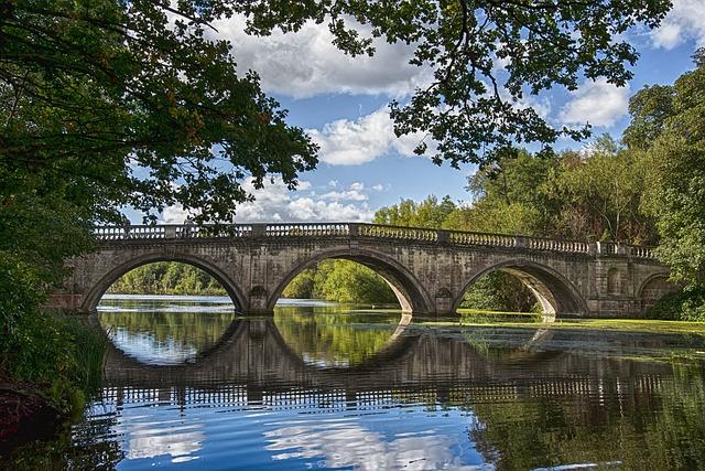 Stone Bridge, Peaceful, Water, Landscape, Park, Scenic